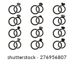 black vector wedding rings... | Shutterstock .eps vector #276956807