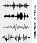 vector sound waves set. audio... | Shutterstock .eps vector #276956957