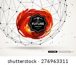 3d abstract backdrop with paint ... | Shutterstock .eps vector #276963311