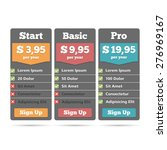 pricing table for web design...
