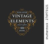 vintage frame for luxury logos  ... | Shutterstock .eps vector #276973121