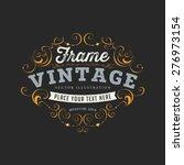 vintage frame for luxury logos  ... | Shutterstock .eps vector #276973154