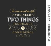 inspirational quote vector... | Shutterstock .eps vector #276973199