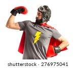 Stock photo strong super hero 276975041