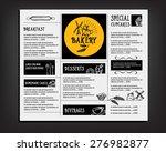 restaurant cafe menu  template... | Shutterstock .eps vector #276982877