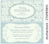 antique baroque wedding... | Shutterstock .eps vector #276985841