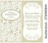 antique baroque wedding... | Shutterstock .eps vector #276985844