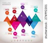 timeline infographics design... | Shutterstock .eps vector #276992201