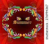 the word summer  | Shutterstock . vector #276994367