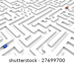 two spheres in labyrinth | Shutterstock . vector #27699700