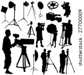 cameraman and film objects... | Shutterstock .eps vector #27700009