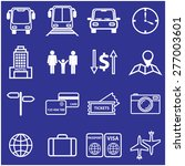 Travel And Vacation Line Icons...