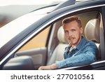 man driving his car | Shutterstock . vector #277010561
