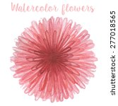 watercolor circle flower in... | Shutterstock .eps vector #277018565