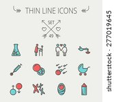 medicine thin line icon set for ... | Shutterstock .eps vector #277019645