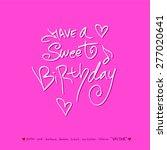 hand drawn greeting    vector   ... | Shutterstock .eps vector #277020641