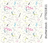 seamless pattern with doodle...   Shutterstock .eps vector #277021811