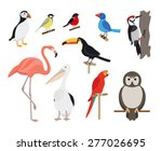 set of birds | Shutterstock .eps vector #277026695