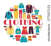 fashion clothing circle... | Shutterstock .eps vector #277027121