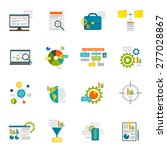 data analytics computer... | Shutterstock .eps vector #277028867