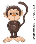 cute monkey isolated on a white ... | Shutterstock .eps vector #277030415