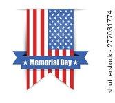 flag of america to memorial day ... | Shutterstock .eps vector #277031774
