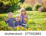 Three Adorable Kids  Dressed I...
