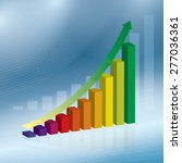 business data market charts... | Shutterstock .eps vector #277036361
