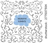 hand drawn set of decorative... | Shutterstock .eps vector #277037504