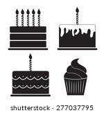 Birthday Cake Silhouette Set...