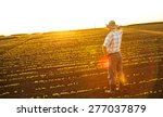 senior farmer standing in a... | Shutterstock . vector #277037879
