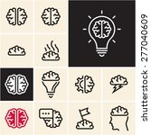 brain icon. brainstorm idea... | Shutterstock .eps vector #277040609