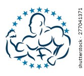 image bodybuilder with muscles... | Shutterstock .eps vector #277041371