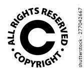 copyright all rights reserved | Shutterstock .eps vector #277042667