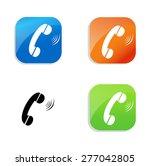 phone icon | Shutterstock .eps vector #277042805