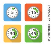 flat time interval icons with...