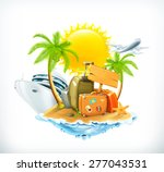 summer travel  vector icon | Shutterstock .eps vector #277043531