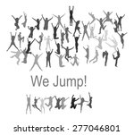 jumping people silhouettes | Shutterstock .eps vector #277046801