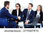 business people shaking hands ... | Shutterstock . vector #277047971