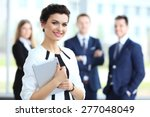 business woman standing in