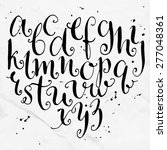 vector curly alphabet. artistic ... | Shutterstock .eps vector #277048361