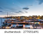 oslo harbour with boats and... | Shutterstock . vector #277051691