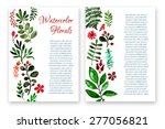beautiful retro flower and...   Shutterstock .eps vector #277056821