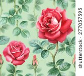 watercolor rose flowers... | Shutterstock . vector #277057595