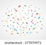 colorful confetti background.... | Shutterstock .eps vector #277074971