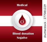 blood donation vector.medical... | Shutterstock .eps vector #277081229