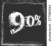 in chalk on the board 90  | Shutterstock .eps vector #277084061