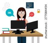 software design over white... | Shutterstock .eps vector #277084454
