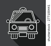 transportation taxi flat icon... | Shutterstock .eps vector #277100441