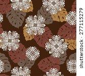 hawaiian quilt  | Shutterstock .eps vector #277115279